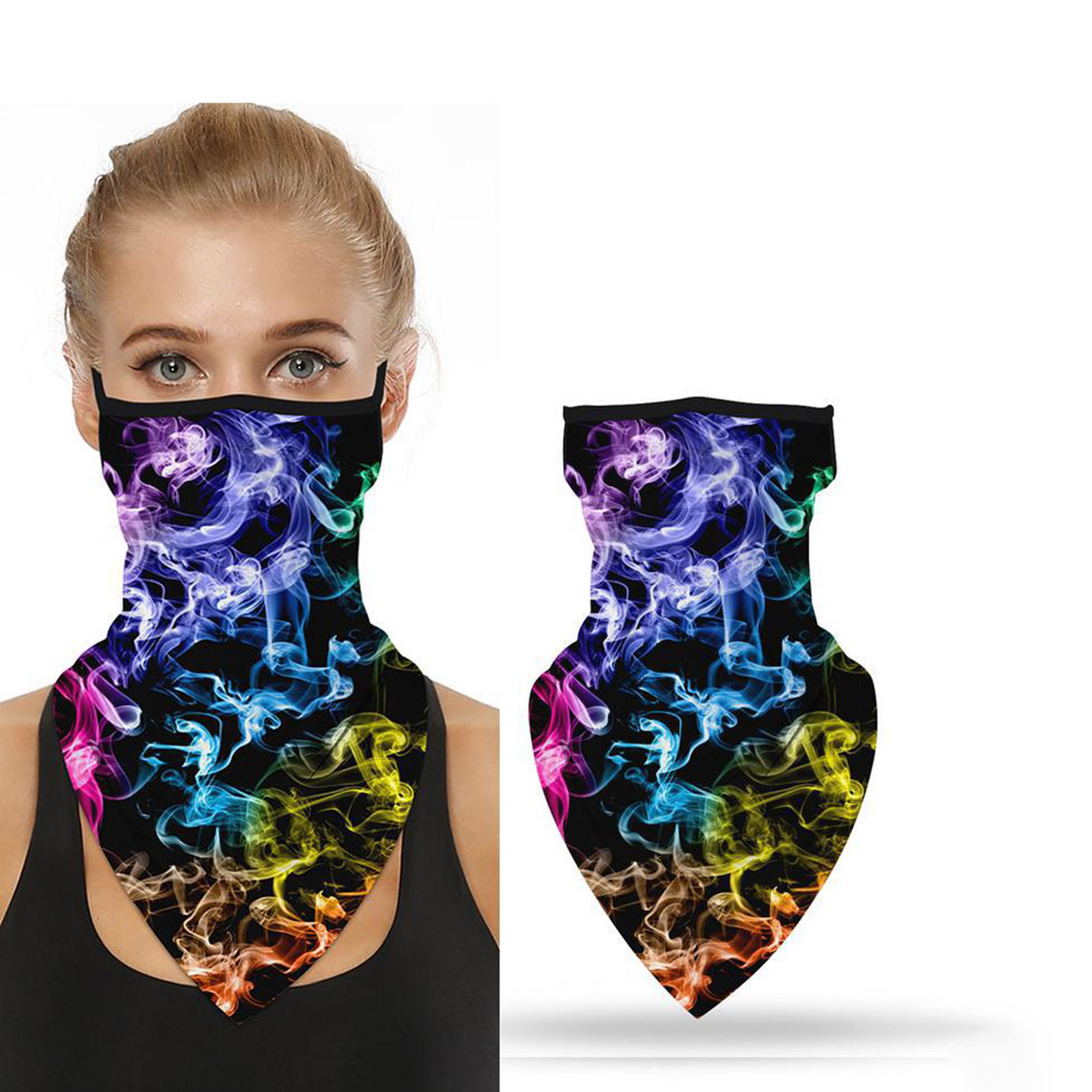 Face Masks Printed Face Scarf Magic Scarf Balaclava Hat Windproof Dust Mask