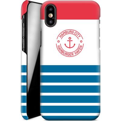 Apple iPhone X Smartphone Huelle - Hamburger Hafen von caseable Designs