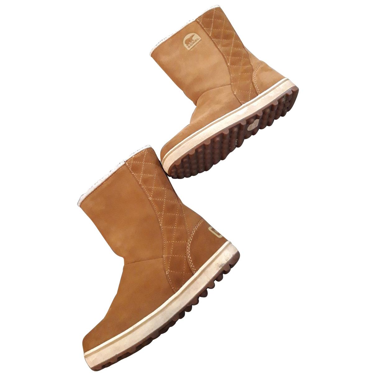 Sorel - Boots   pour femme en suede - camel
