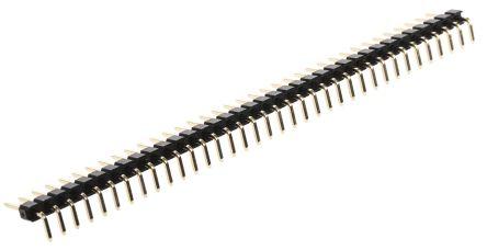 HARWIN M20, 2.54mm Pitch, 36 Way, 1 Row, Right Angle Pin Header, Through Hole
