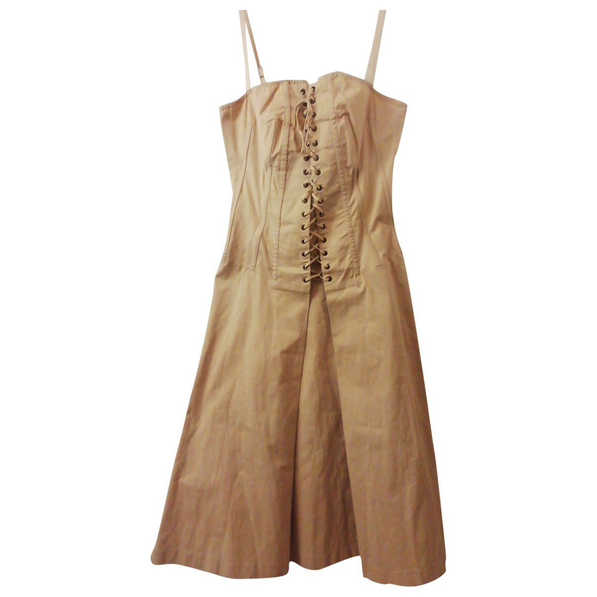 Flavio Castellani \N Beige Cotton - elasthane dress for Women 42 IT