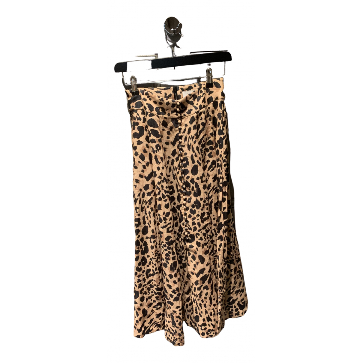 Zimmermann \N Camel Linen skirt for Women 0 0-5