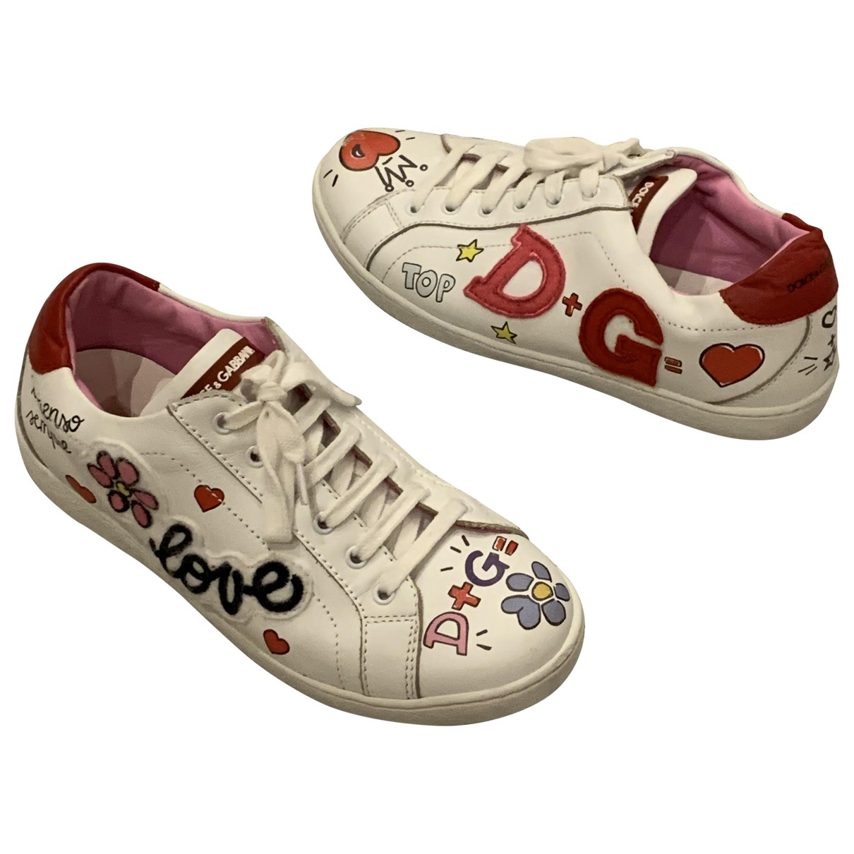 Dolce & Gabbana \N Leather Trainers for Kids 33 EU