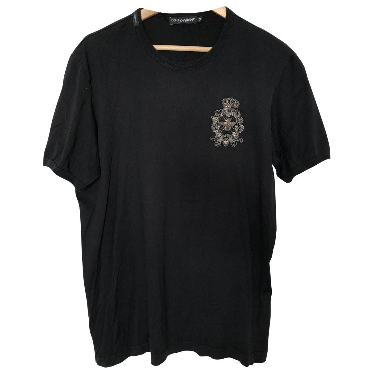 Dolce & Gabbana \N Black Cotton T-shirts for Men XXL International