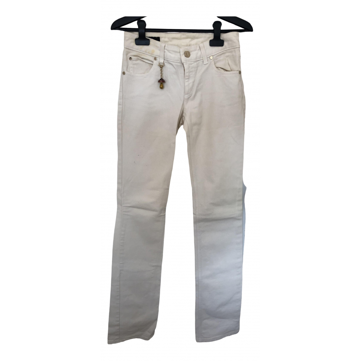 Gucci \N White Cotton Jeans for Women 36 FR