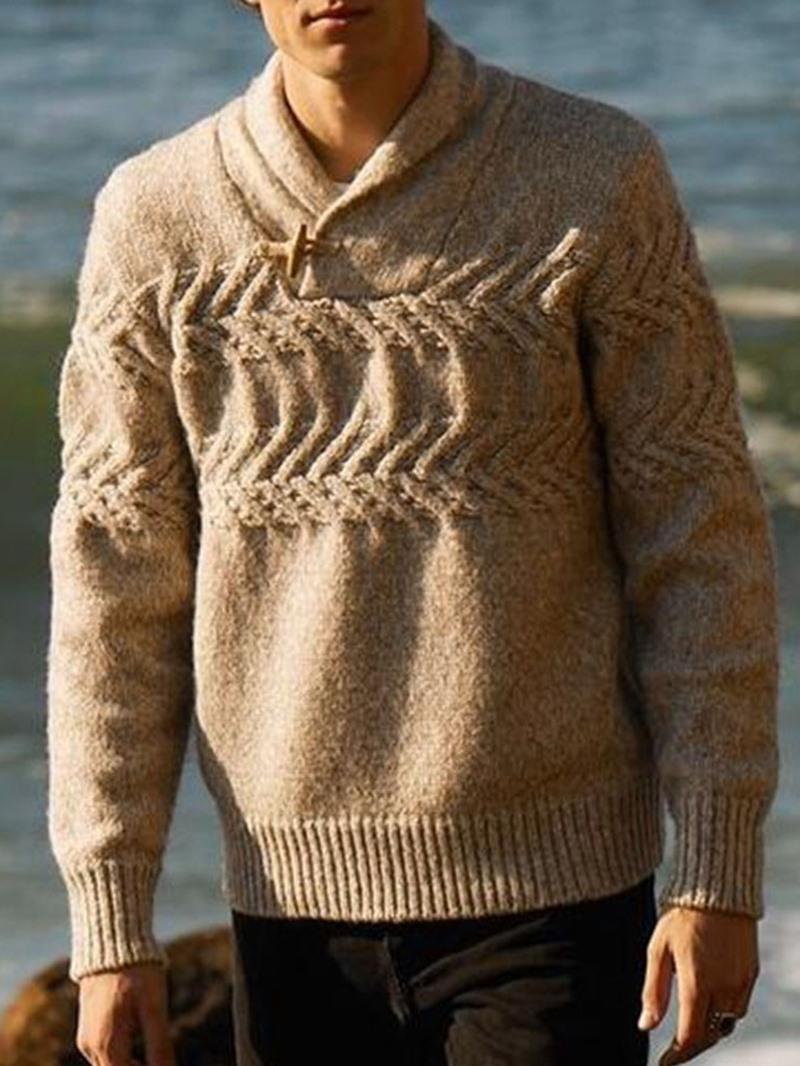 Ericdress Plain Standard Winter Straight Sweater