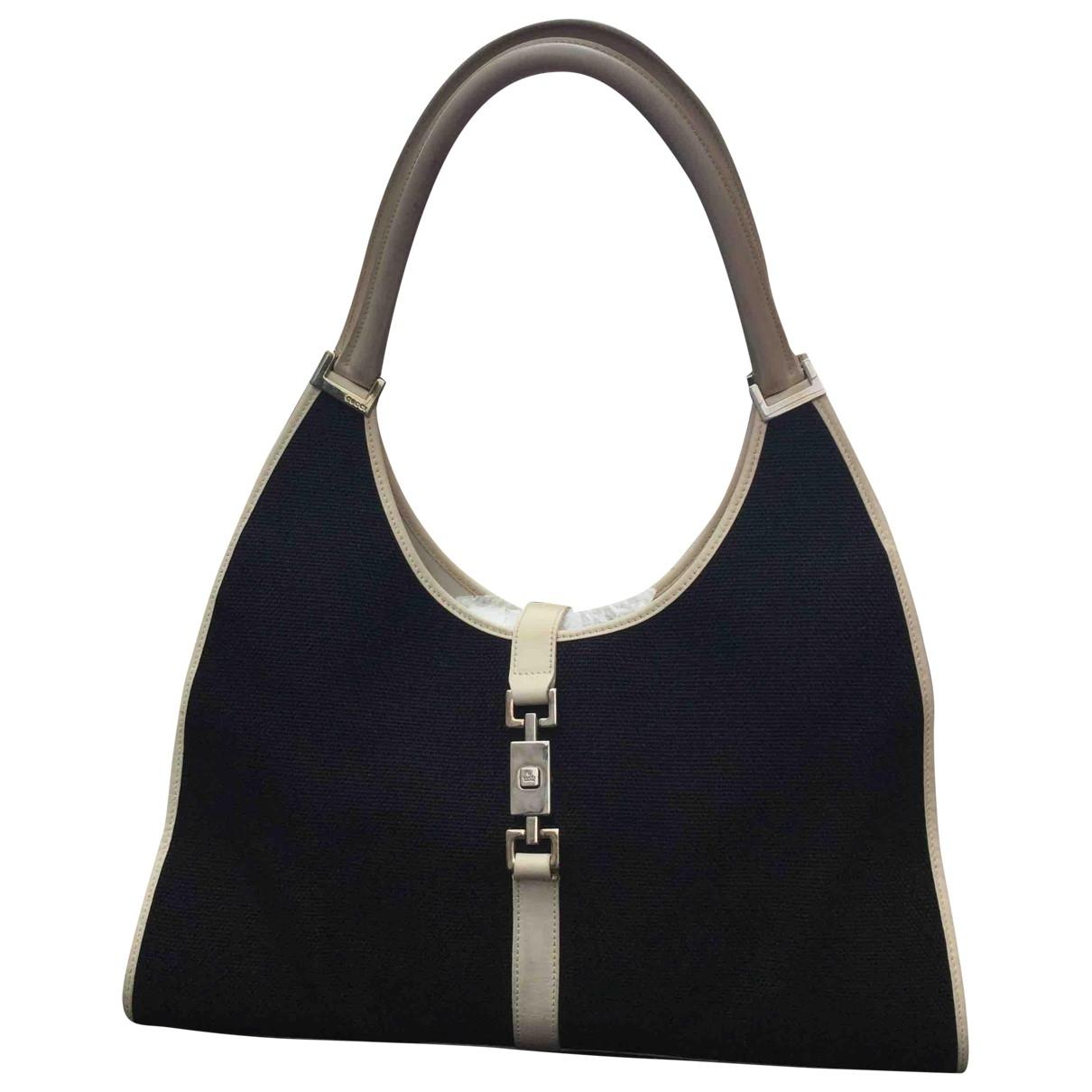 Gucci Jackie Vintage  Handtasche in  Marine Leinen
