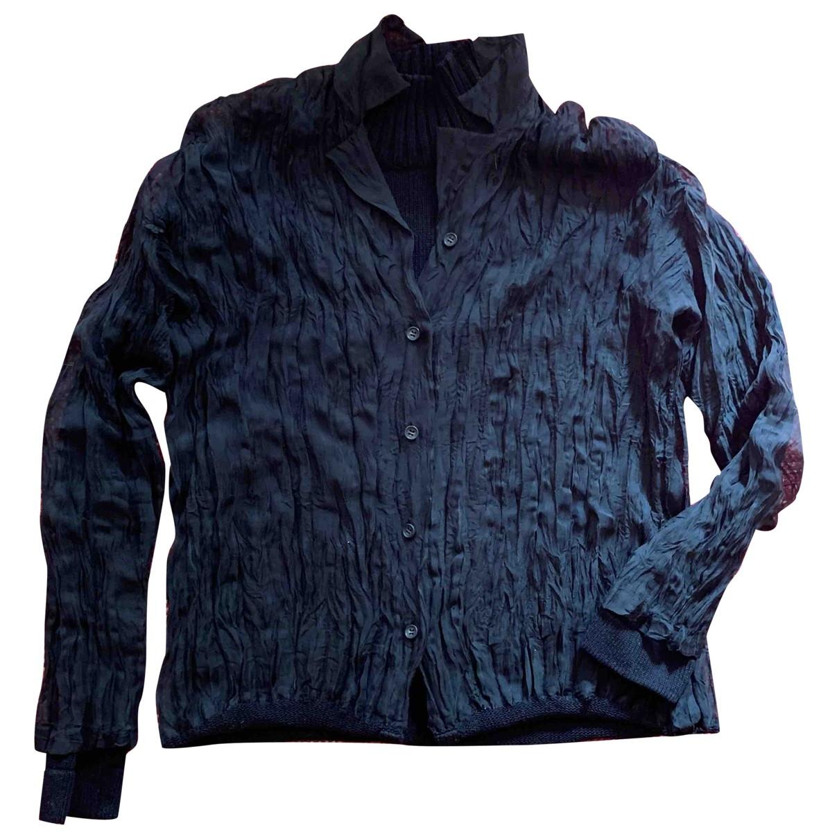 Issey Miyake \N Pullover in  Schwarz Baumwolle