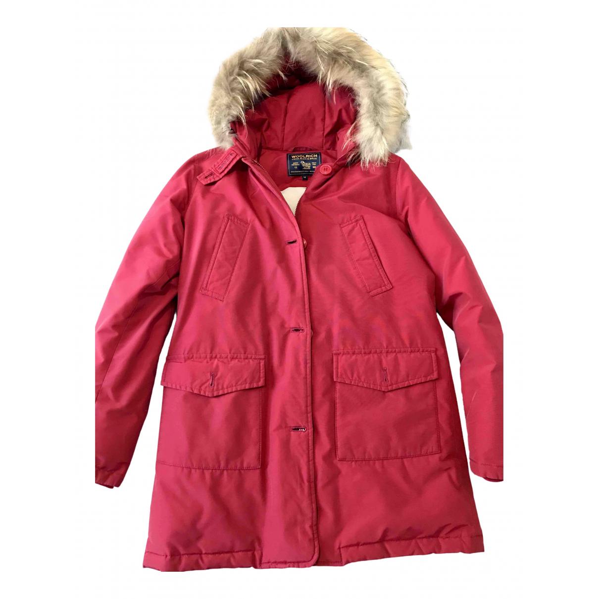 Woolrich N Red Cotton coat for Women S International