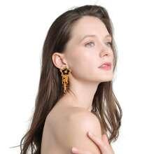 Ohrringe mit Perlen Quasten