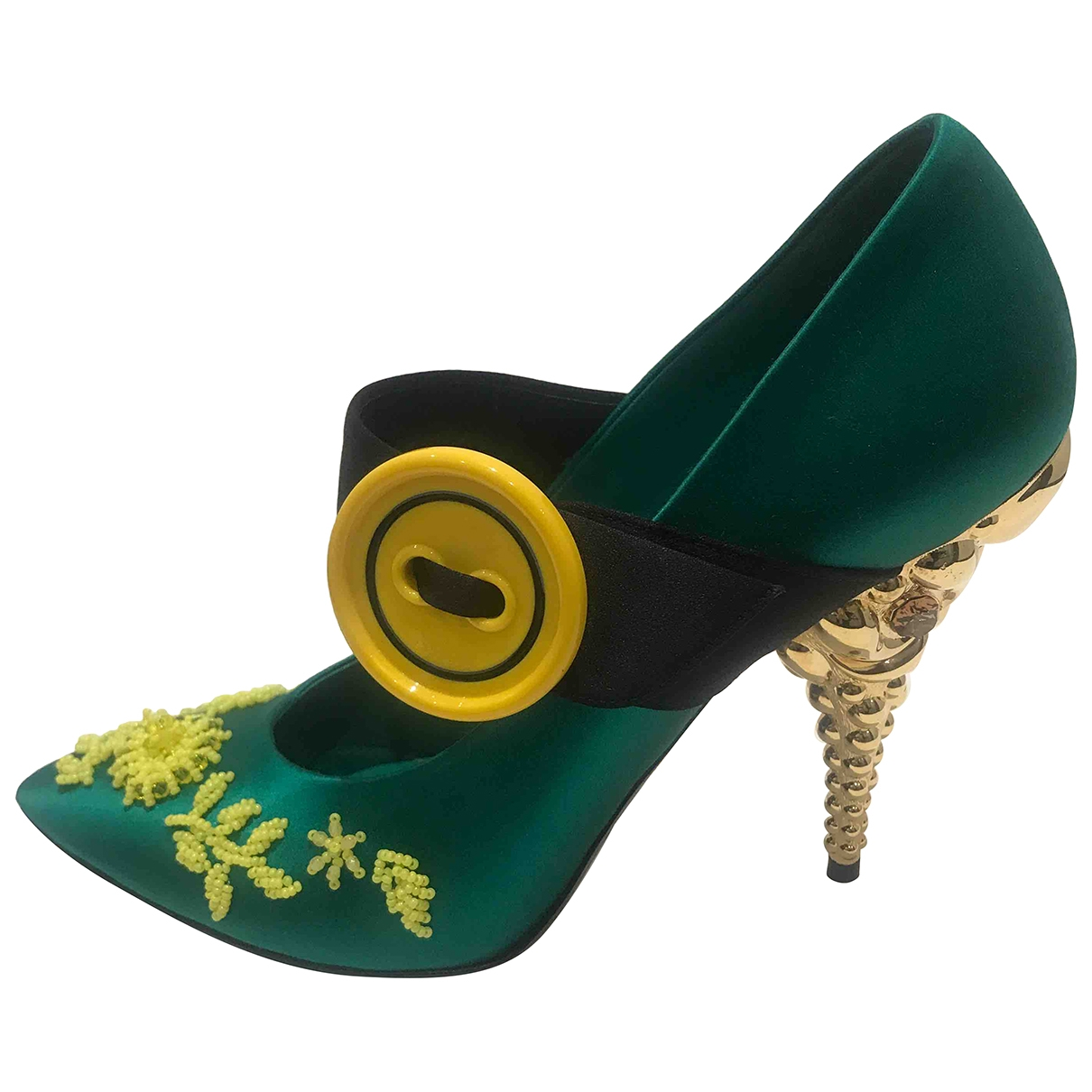 Prada \N Green Cloth Heels for Women 41 EU