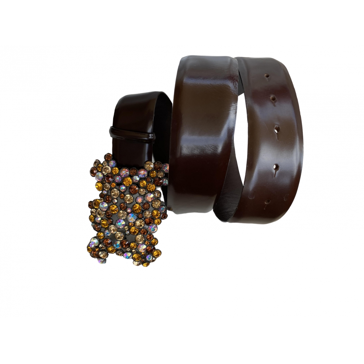Orciani \N Brown Leather belt for Women 85 cm