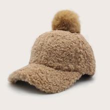 Baseball Kappe mit Pompon Dekor