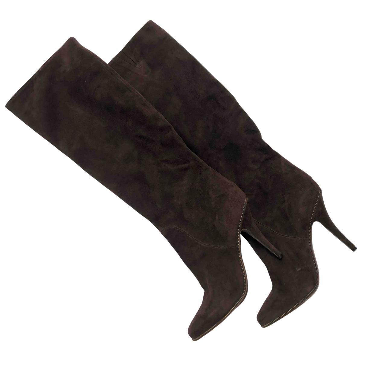 Givenchy \N Stiefel in  Braun Veloursleder