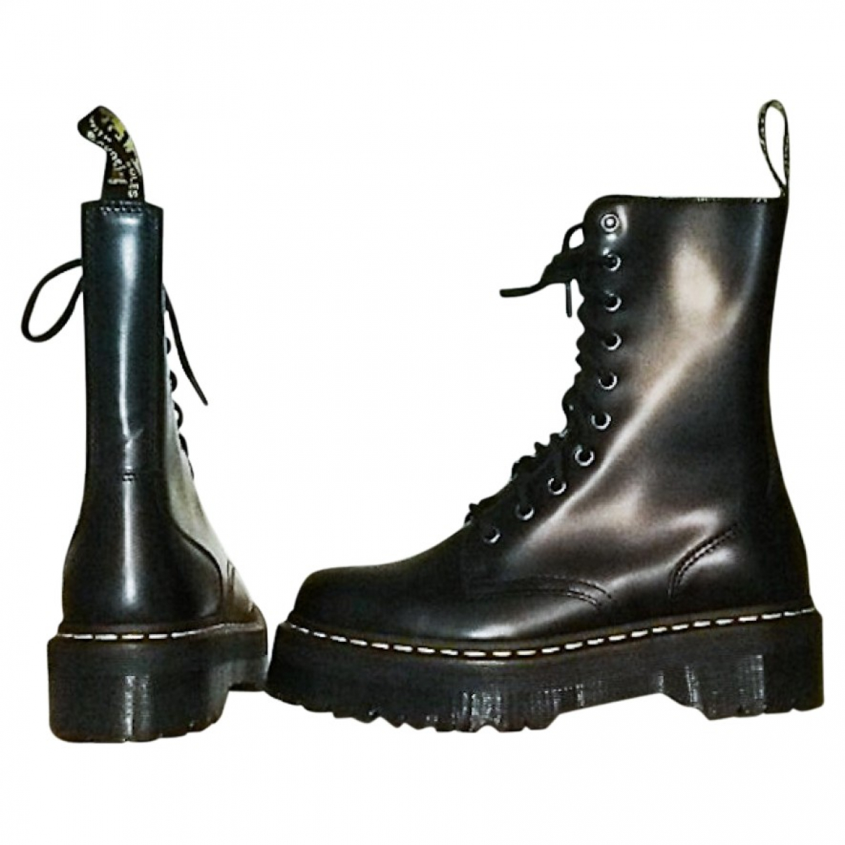 Dr. Martens Jadon Black Leather Ankle boots for Women 40 EU