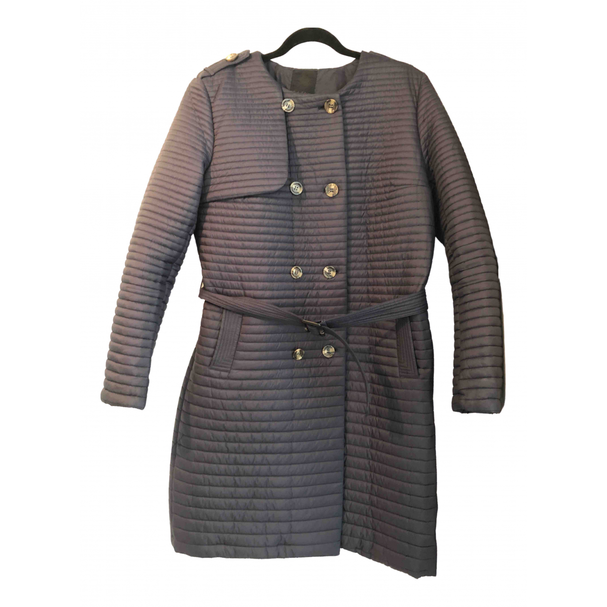 Non Signé / Unsigned \N Navy coat for Women XXL International