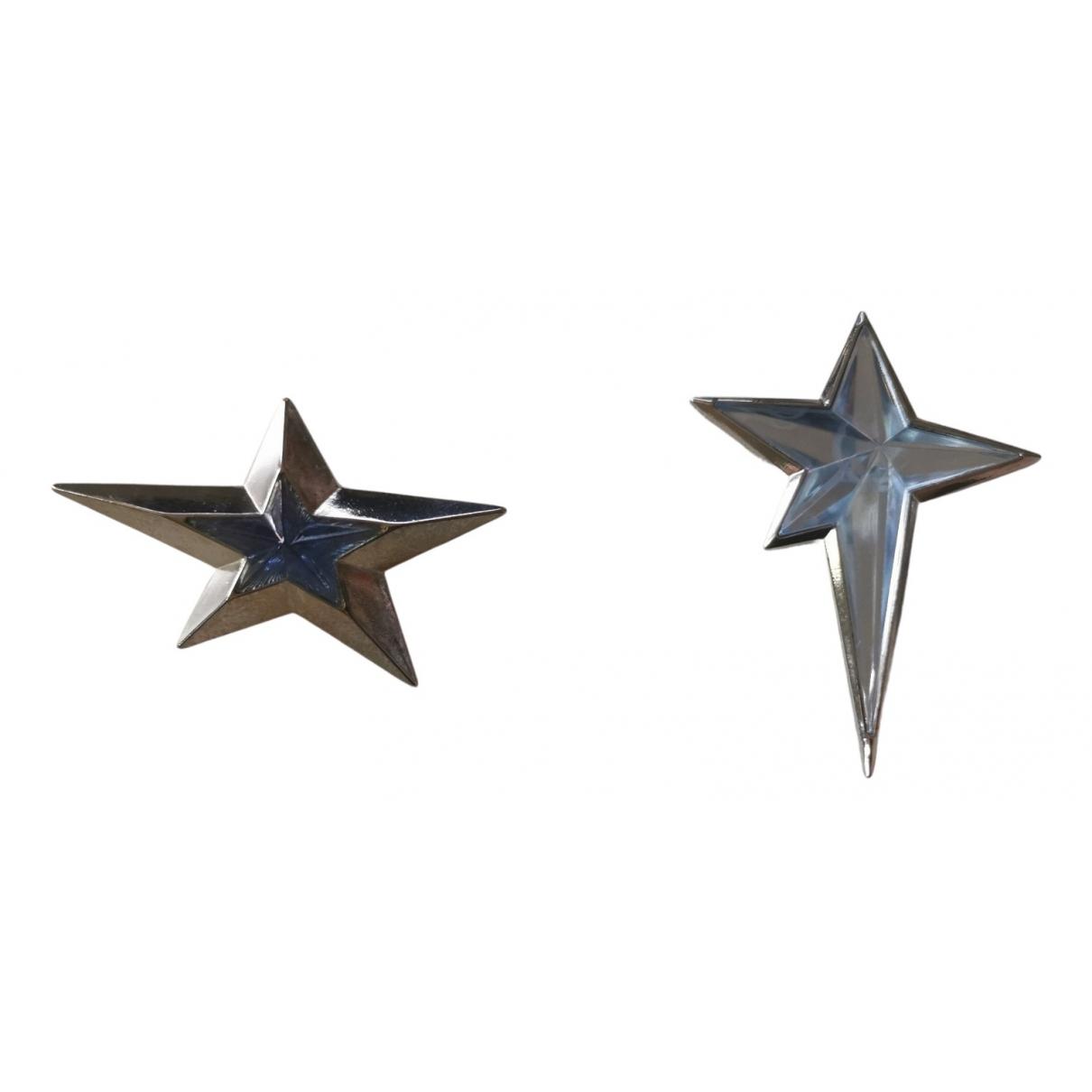 Thierry Mugler \N Brosche in  Blau Metall