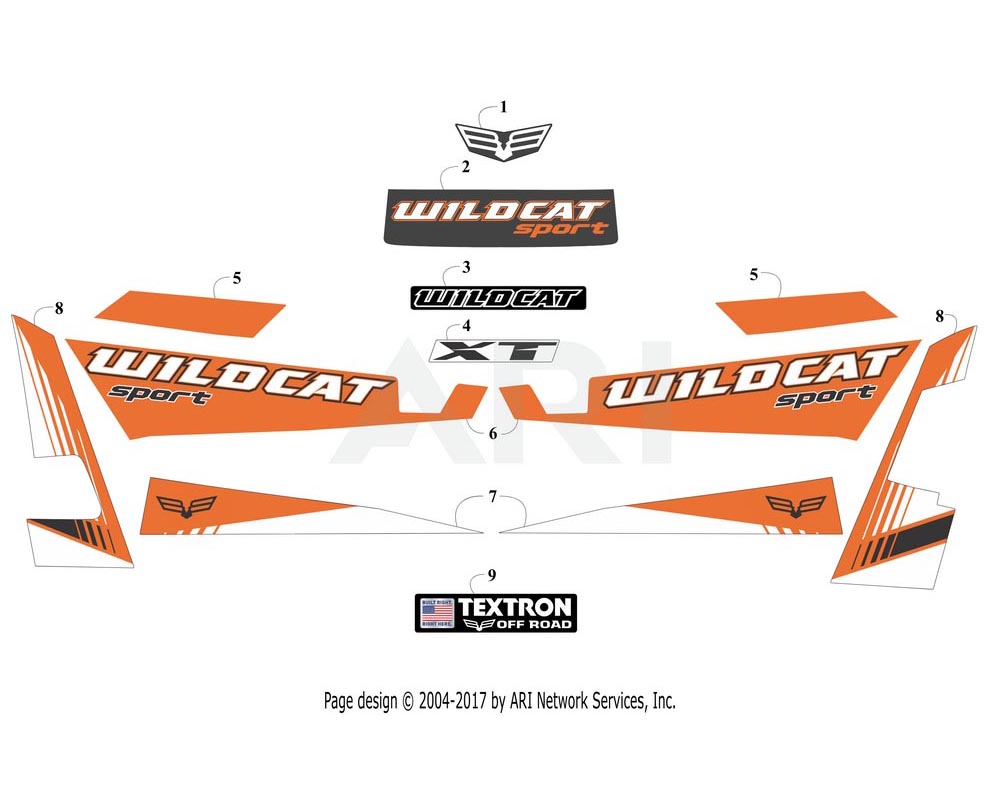 Arctic Cat OEM 6411-218 Decal Side Lwr Right Hand (Wc Sport Xt Org)
