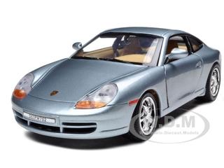 Porsche 911 Carrera Grey 1/18 Diecast Model Car by Motormax