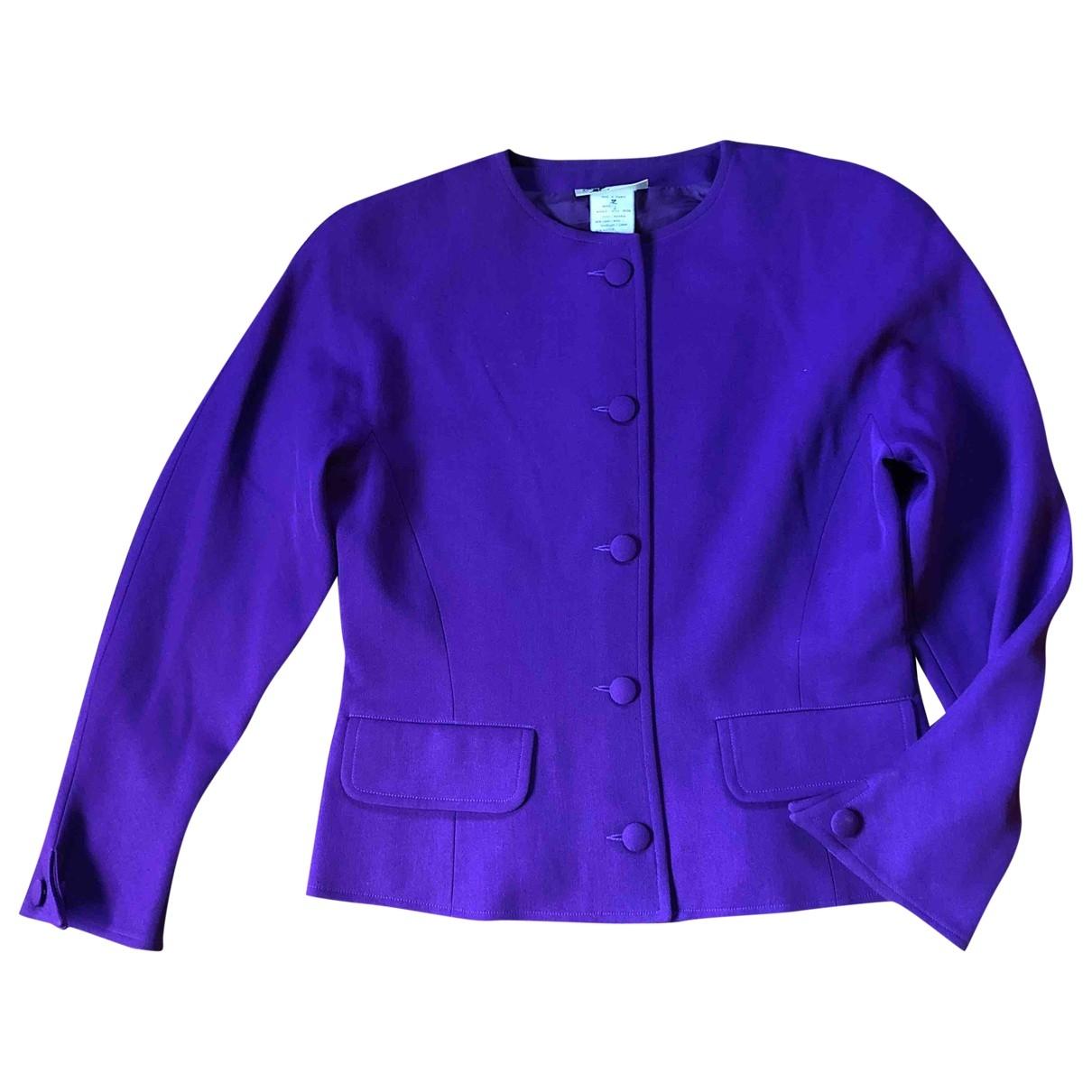 Courreges - Veste   pour femme en laine - violet