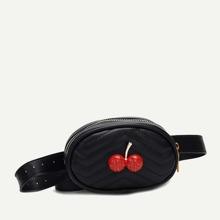 Kids Cherry Decor Chevron Bum Bag