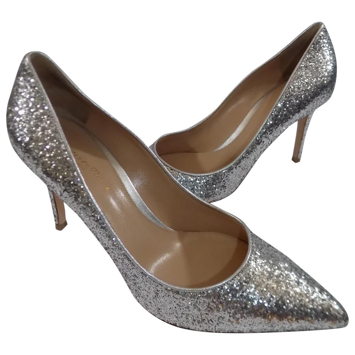 Gianvito Rossi \N Silver Glitter Heels for Women 40 IT