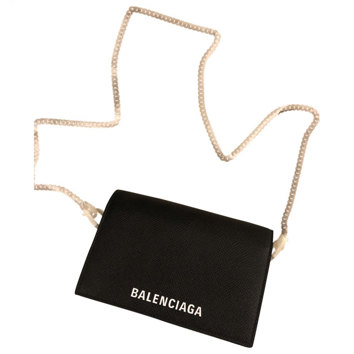 Balenciaga - Pochette Everyday pour femme en cuir - noir