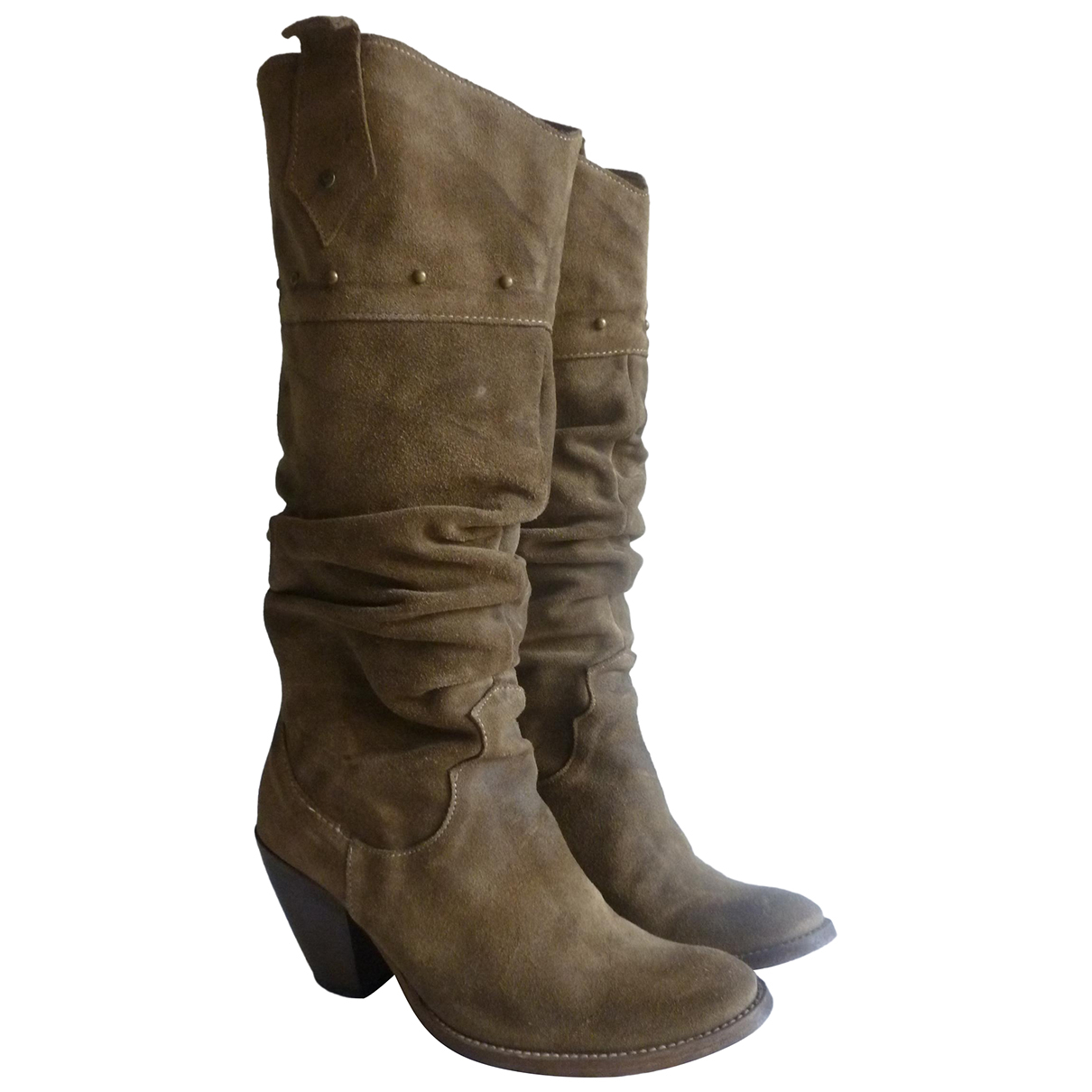 Non Signé / Unsigned N Suede Boots for Women 36 EU