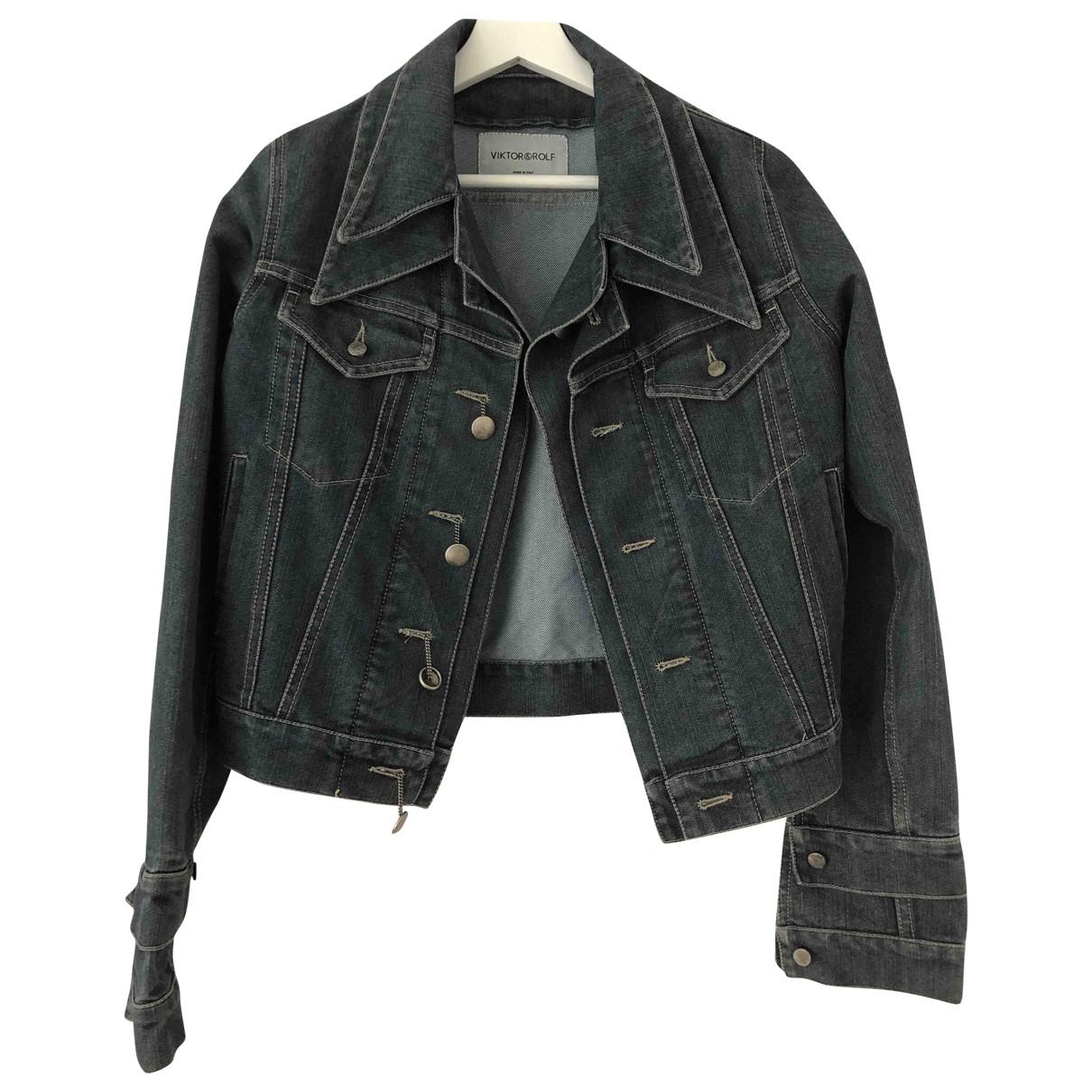 Viktor & Rolf \N Blue Denim - Jeans jacket for Women 40 FR