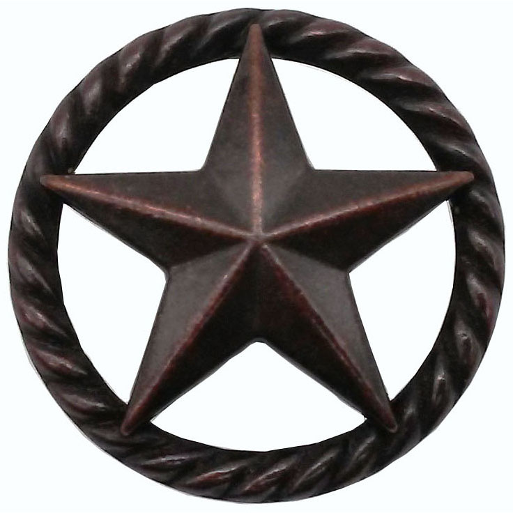 3-D Star with Narrow Rope, Oil Rubbed Bronze