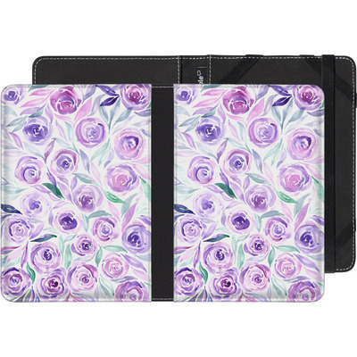Pocketbook Touch Lux 2 eBook Reader Huelle - Purple Rose Floral von Becky Starsmore
