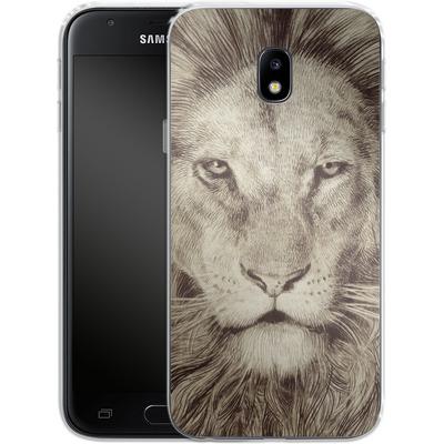 Samsung Galaxy J3 (2017) Silikon Handyhuelle - Leo Lion von Eric Fan