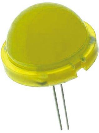 Kingbright 6 → 8 V Yellow LED 20 mm Through Hole,  BIG LAMP DLC2/6YD