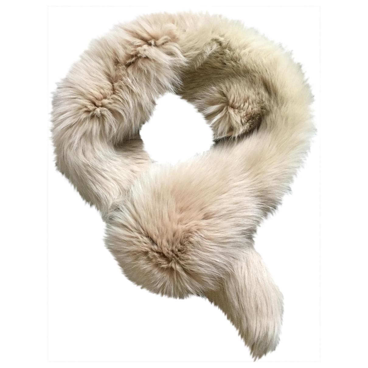 Alexander Mcqueen \N Beige Fox scarf for Women \N