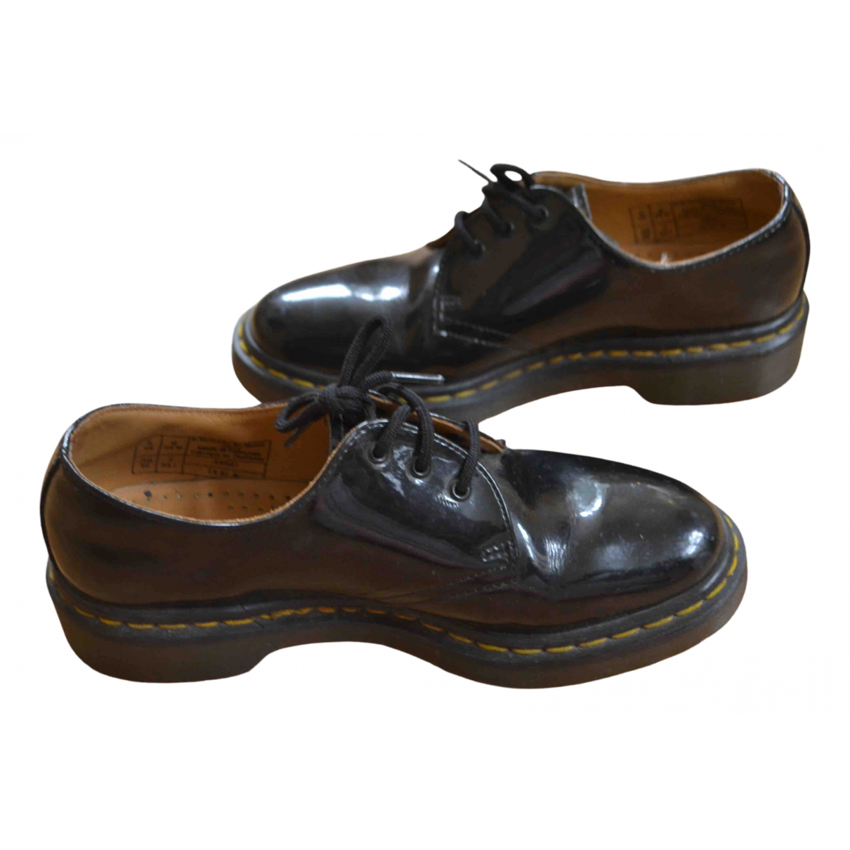 Dr. Martens N Black Patent leather Lace ups for Women 5 UK