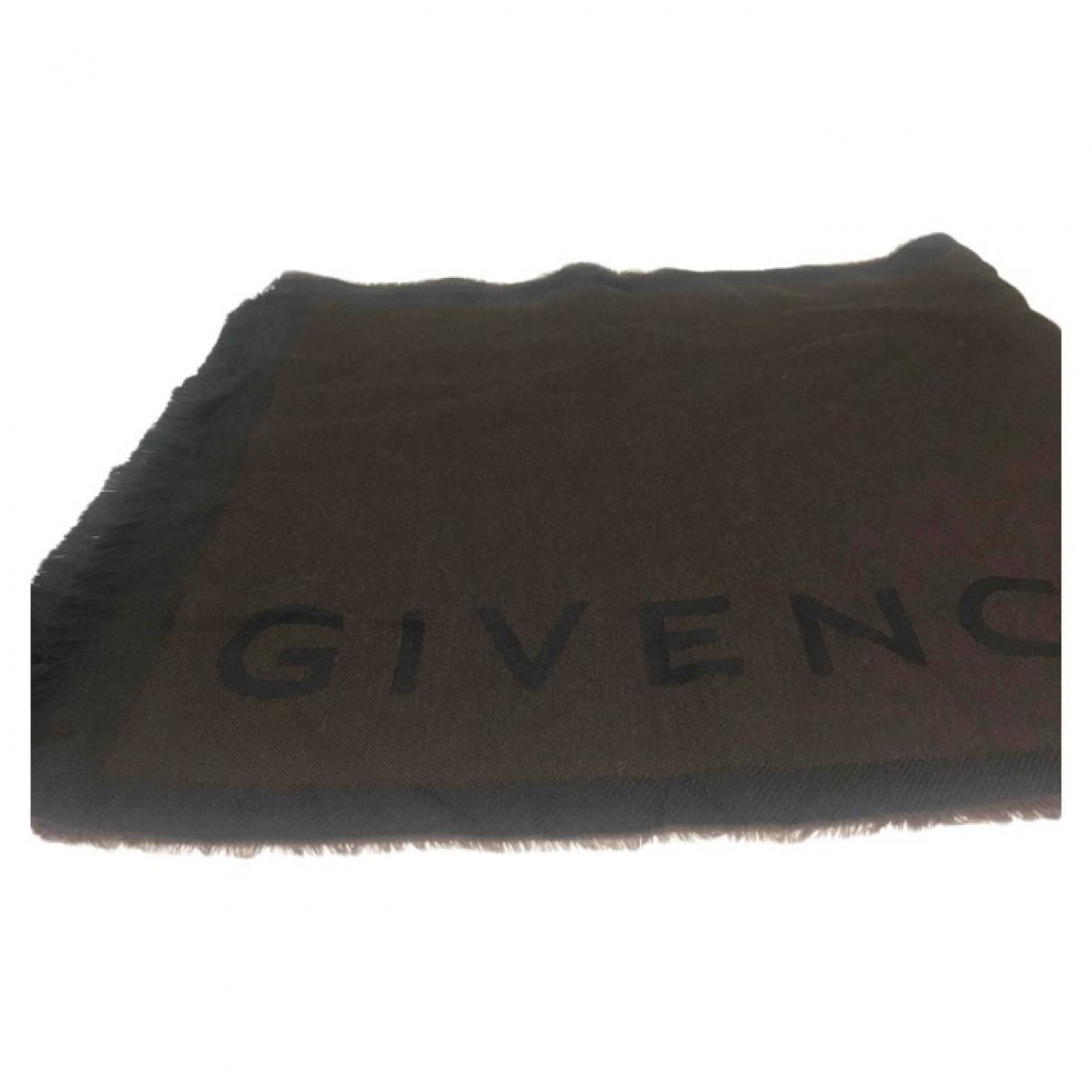 Givenchy \N Brown Wool scarf & pocket squares for Men \N