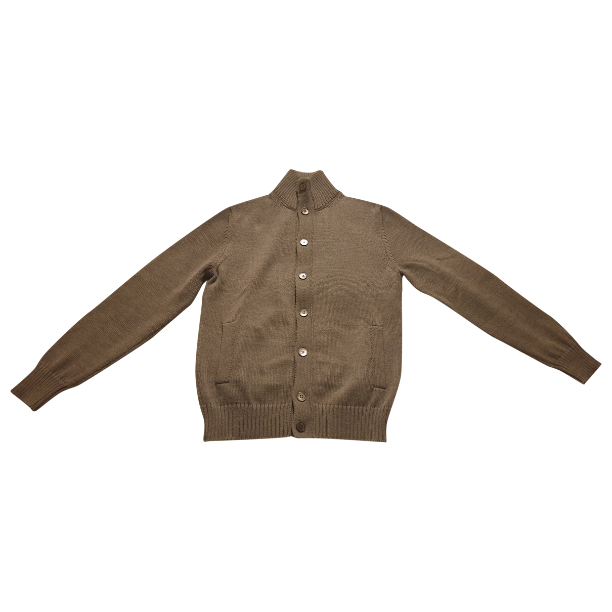 Zanone \N Pullover.Westen.Sweatshirts  in  Beige Wolle