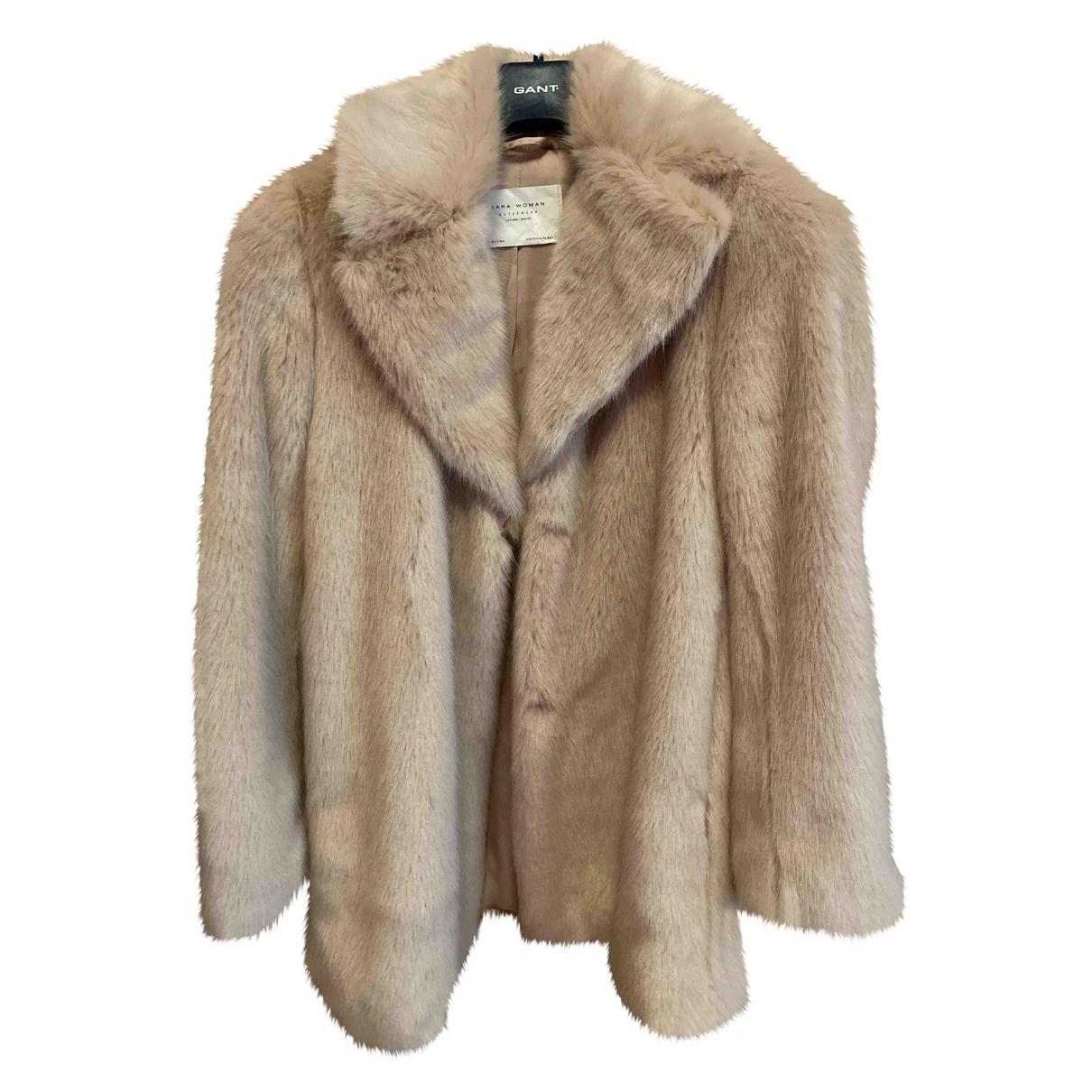 Zara \N Pink Faux fur coat for Women XS International