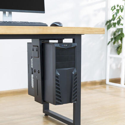 Adjustable Under-Desk /Wall CPU Mount PrimeCables®