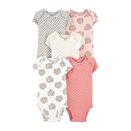 Carter's Little Baby Basic Baby Girls 5-pc. Bodysuit, 12 Months , Multiple Colors