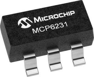 Microchip MCP6231T-E/OT , Op Amp, RRIO, 300kHz 10 kHz, 6 V, 5-Pin SOT-23 (3000)
