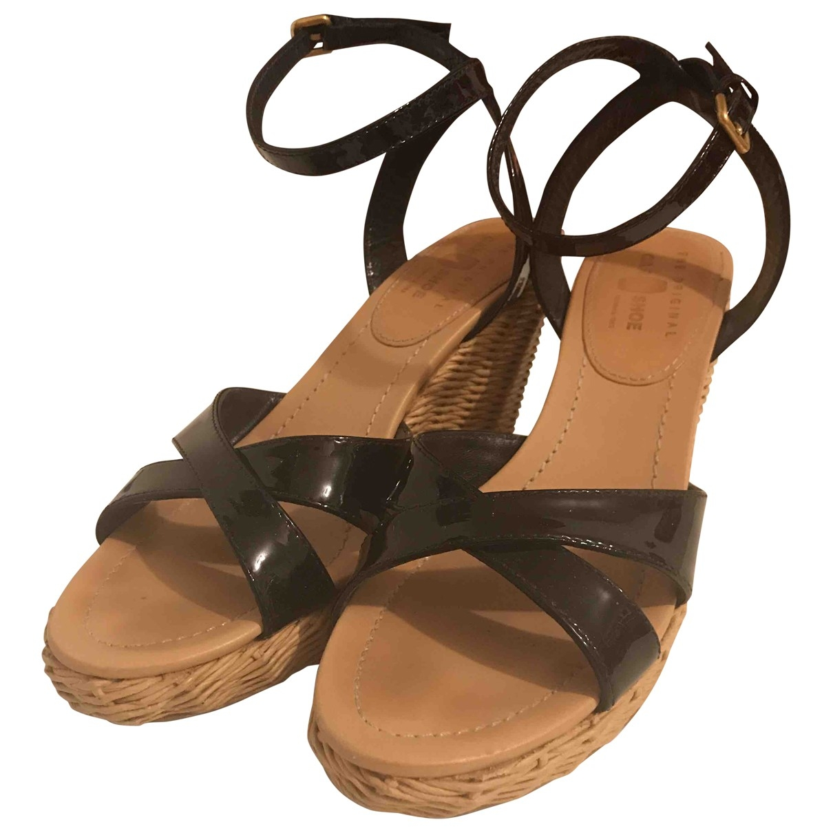 Carshoe \N Black Patent leather Sandals for Women 39 EU