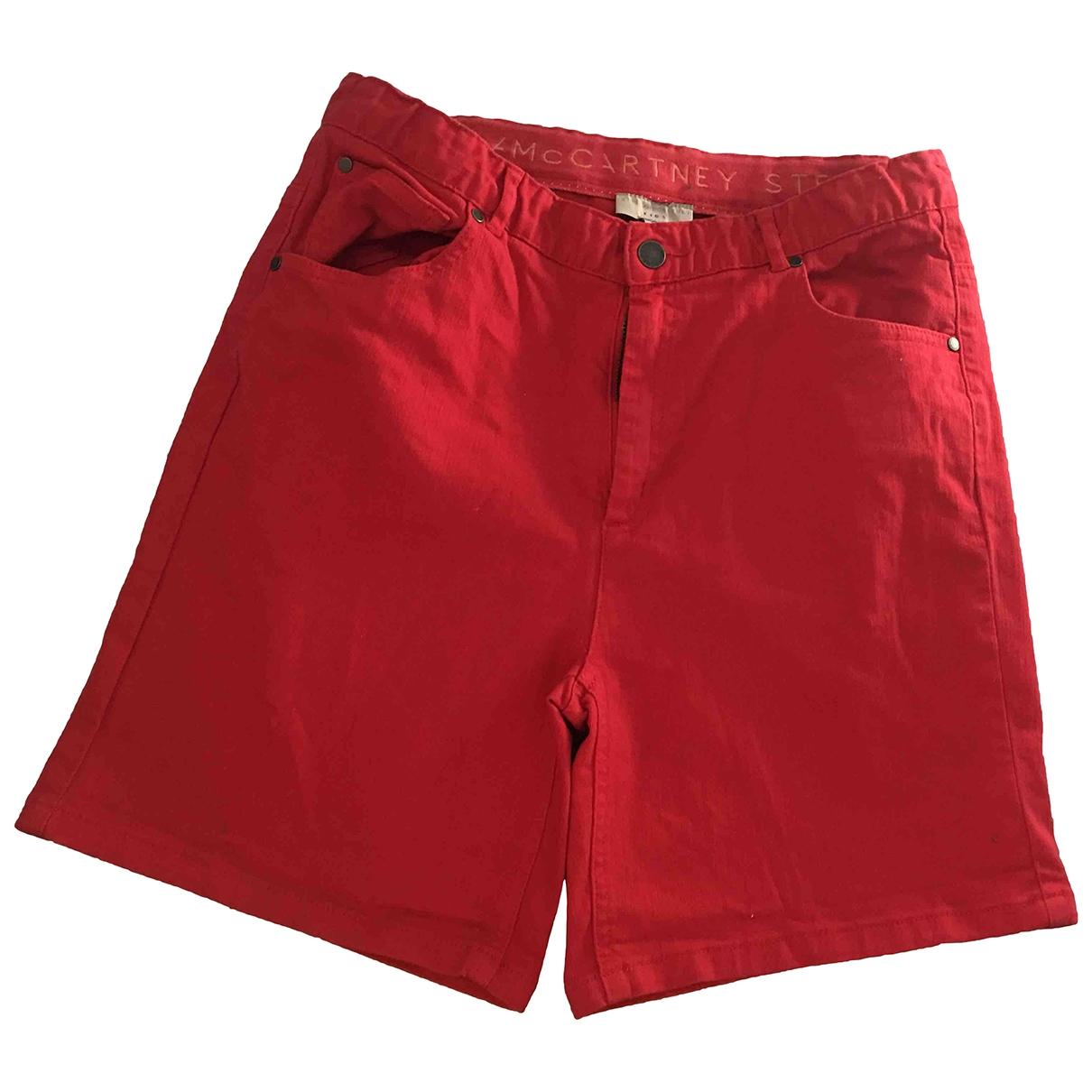 Stella Mccartney \N Shorts in  Rot Baumwolle