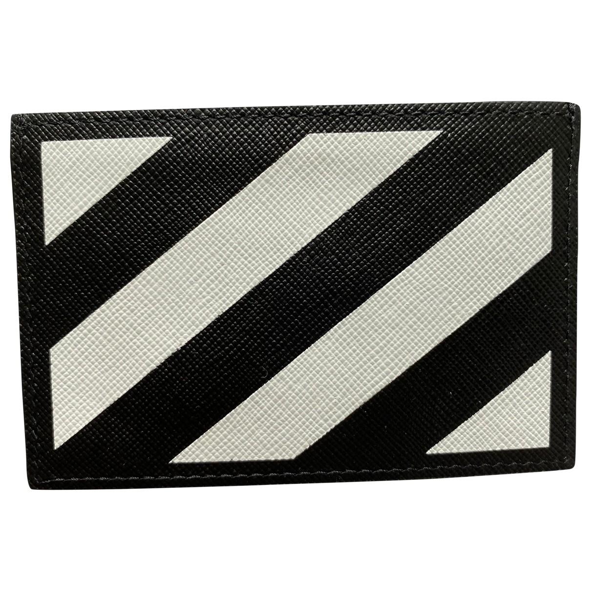 Off-white - Petite maroquinerie   pour homme en cuir - noir
