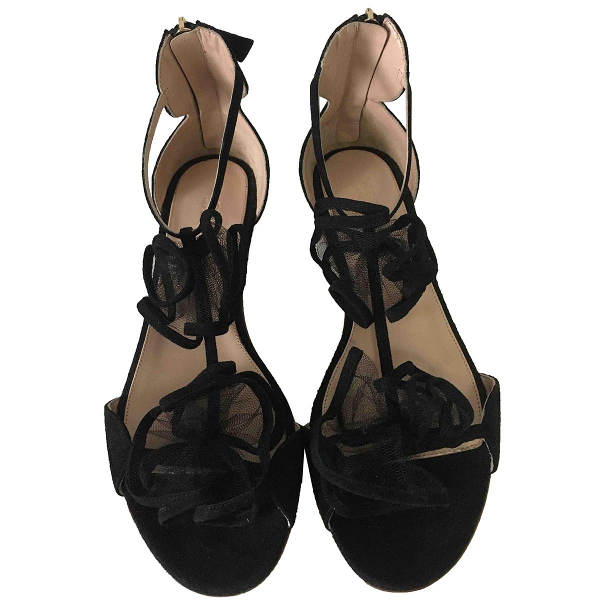Giambattista Valli \N Black Suede Sandals for Women 39 EU