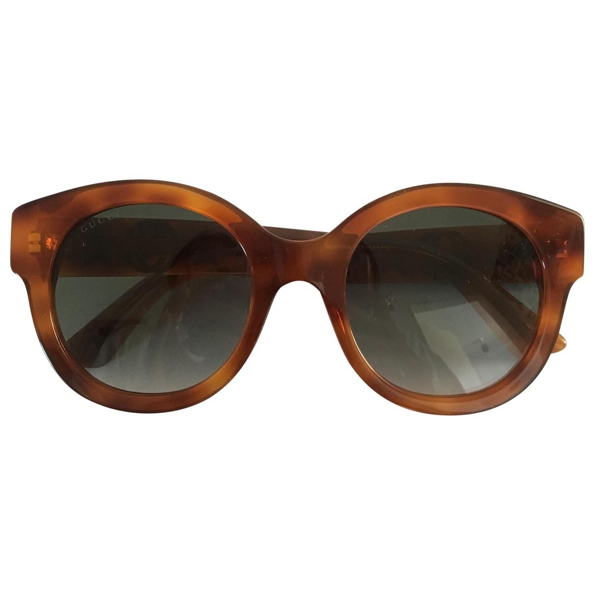 Gucci \N Sonnenbrillen in  Orange Kunststoff