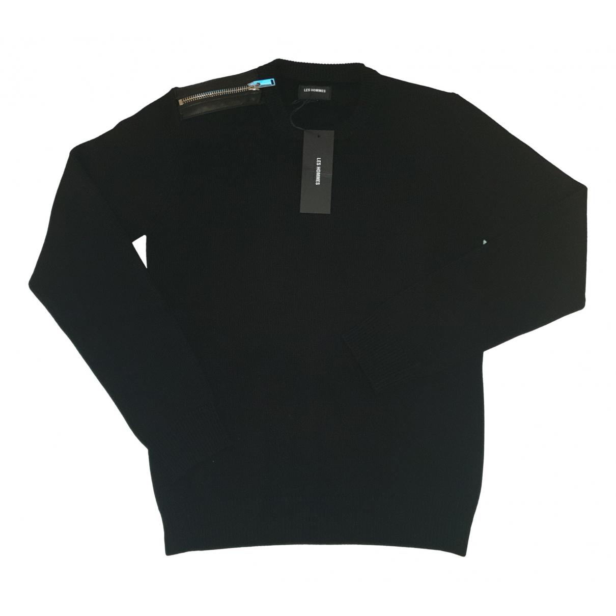 Les Hommes - Pulls.Gilets.Sweats   pour homme en laine - noir