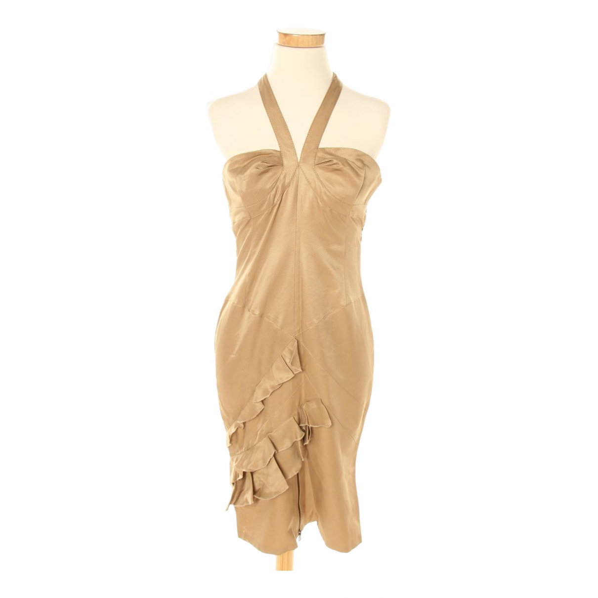 Kina Fernandez \N Kleid in  Gold Polyester