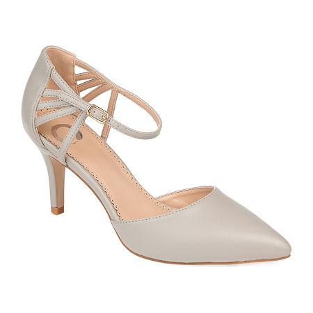 Journee Collection Womens Mia Pointed Toe Stiletto Heel Pumps, 12 Medium, Gray