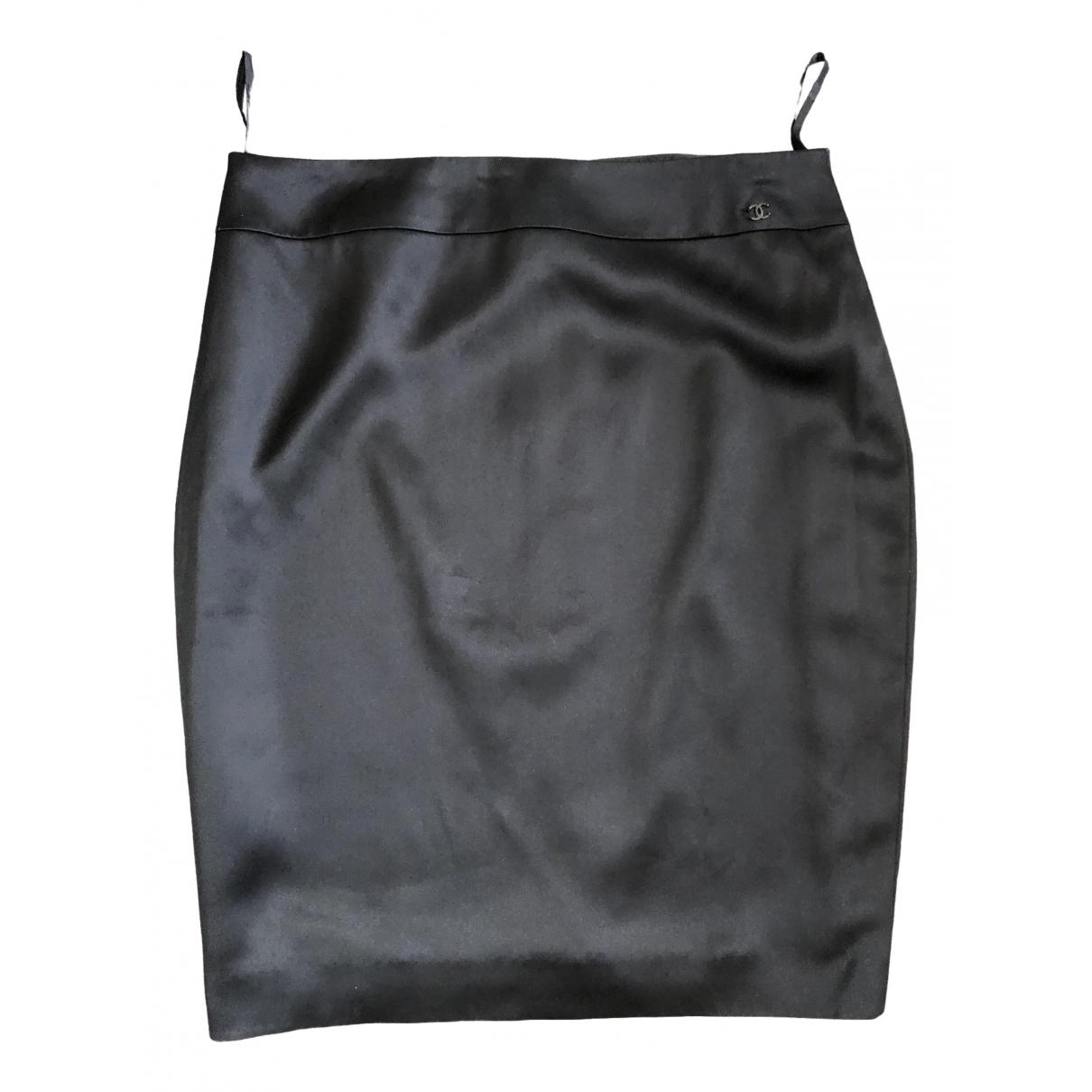Chanel \N Black Silk skirt for Women 42 FR